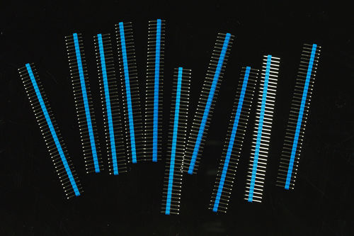 0.1? (2.54 mm) Arduino Male Pin Headers (Straight Blue 10pcs)