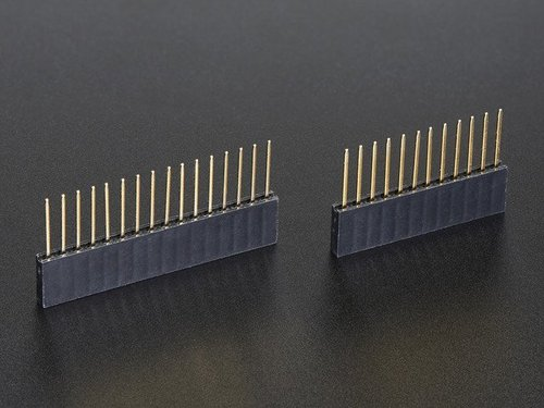 Stacking Headers for Feather - 12-pin and 16-pin female headers