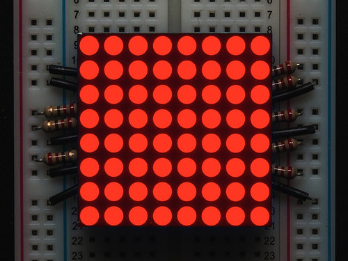 Kleine 1,2 8x8 Ultra Bright Red LED Matrix - KWM-30881CVB