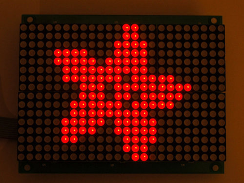 16x24 Red LED Matrix Panel - Verkettbarer HT1632C-Treiber