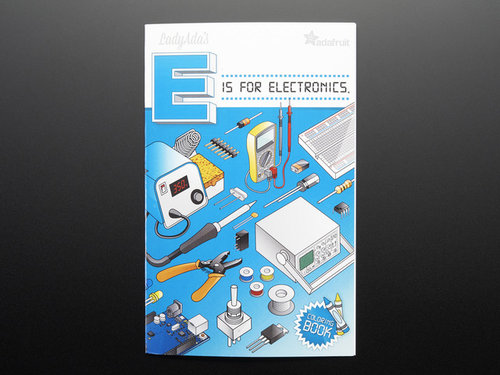 Coloring book - Ladyadas E is for electronics