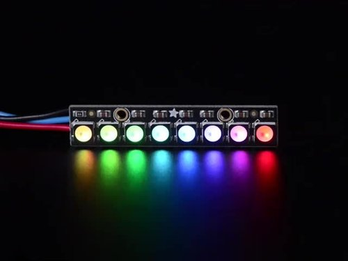 NeoPixel Stick - 8 x 5050 RGBW-LEDs - Cool White - ~ 6000K