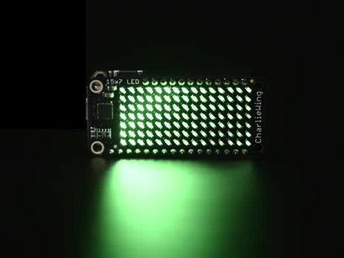 Adafruit 15x7 CharliePlex LED Matrix Display Federflügel - Grün
