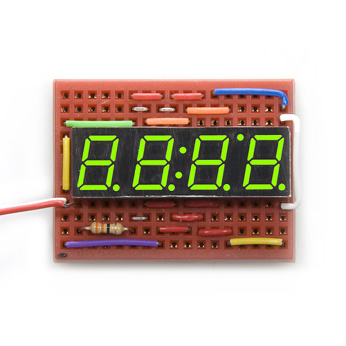 7-Segment Display - 4-Digit (Kelly Green)