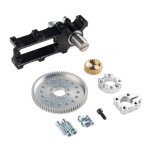 Channel Mount Gearbox Kit - 360° Rotation (5:1 Ratio)