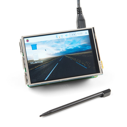 LCD Touchscreen HAT for Raspberry Pi - TFT 3.5in. (480x320)