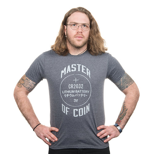 Master of Coin Shirt - Large (Gray)